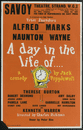 Savoy Theatre. A Day in the Life Of Popplewell. Alfred Marks Naunton Wayne 1958